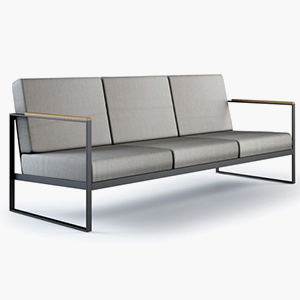 3 Seater Metal Sofa